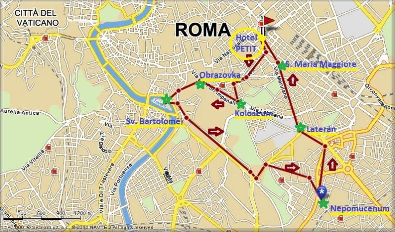 Rim Mapa Mapy Rim Lazio Italie